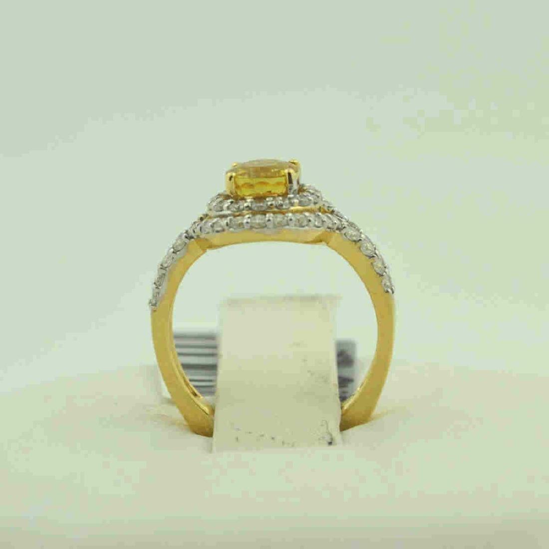 18kt yellow gold yellow sapphire ring - 3