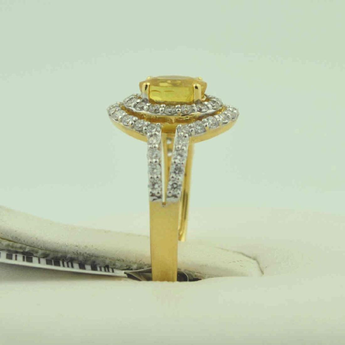18kt yellow gold yellow sapphire ring - 4