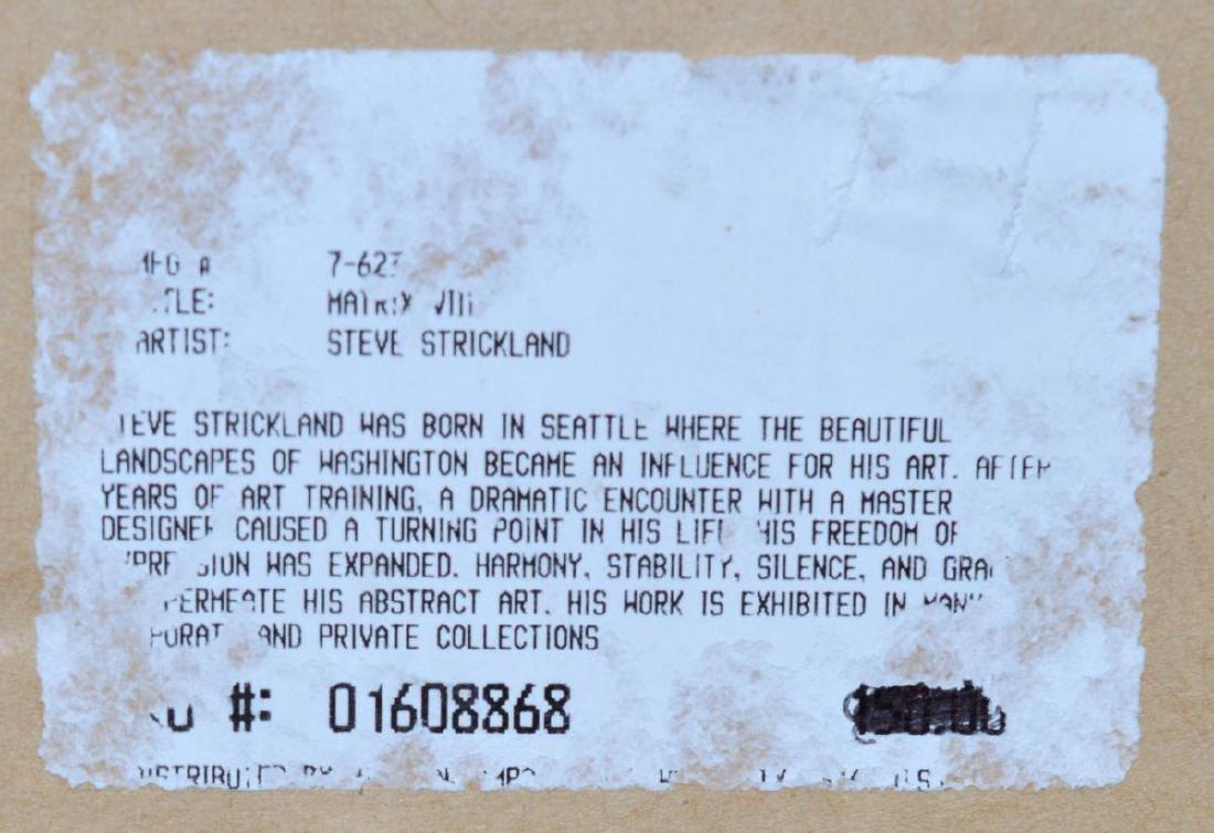 "Steve Strickland ""Matrix VIII"" Abstract Art Print - 5"