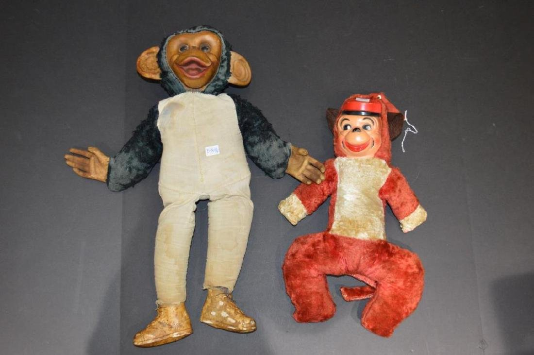 Two Vintage Monkey Dolls