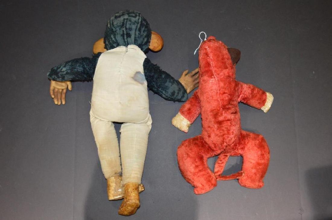Two Vintage Monkey Dolls - 2