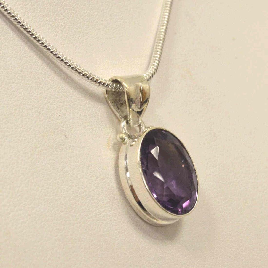 Sterling silver amethyst necklace - 4
