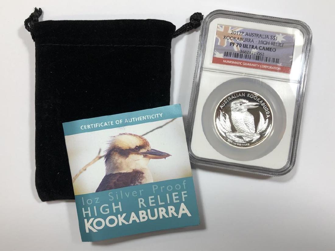 2012 Kookaburra Australia Silver Proof NGC PF70