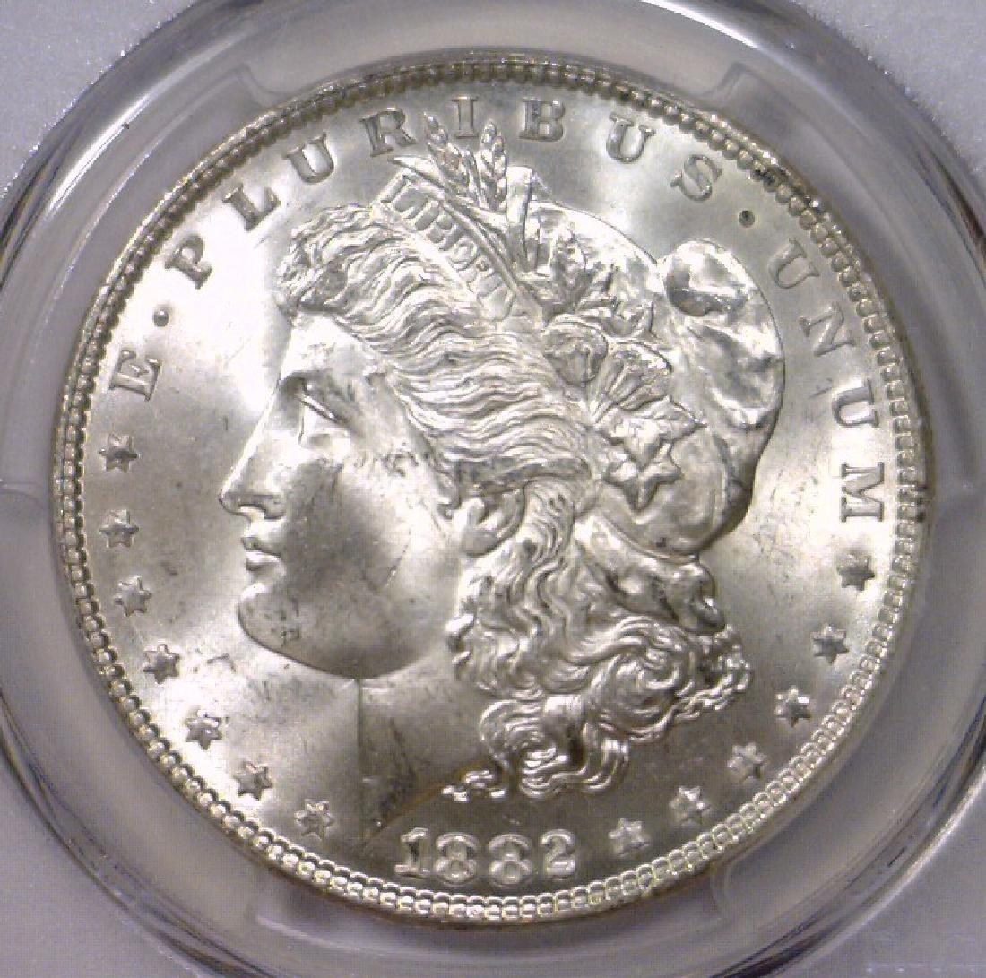 1882 Morgan Silver Dollar Gem BU PCGS MS65