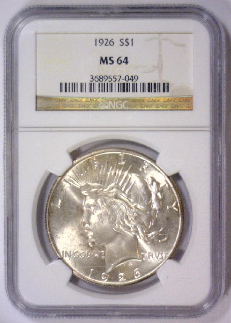 1926 Peace Silver Dollar NGC MS64 - 3