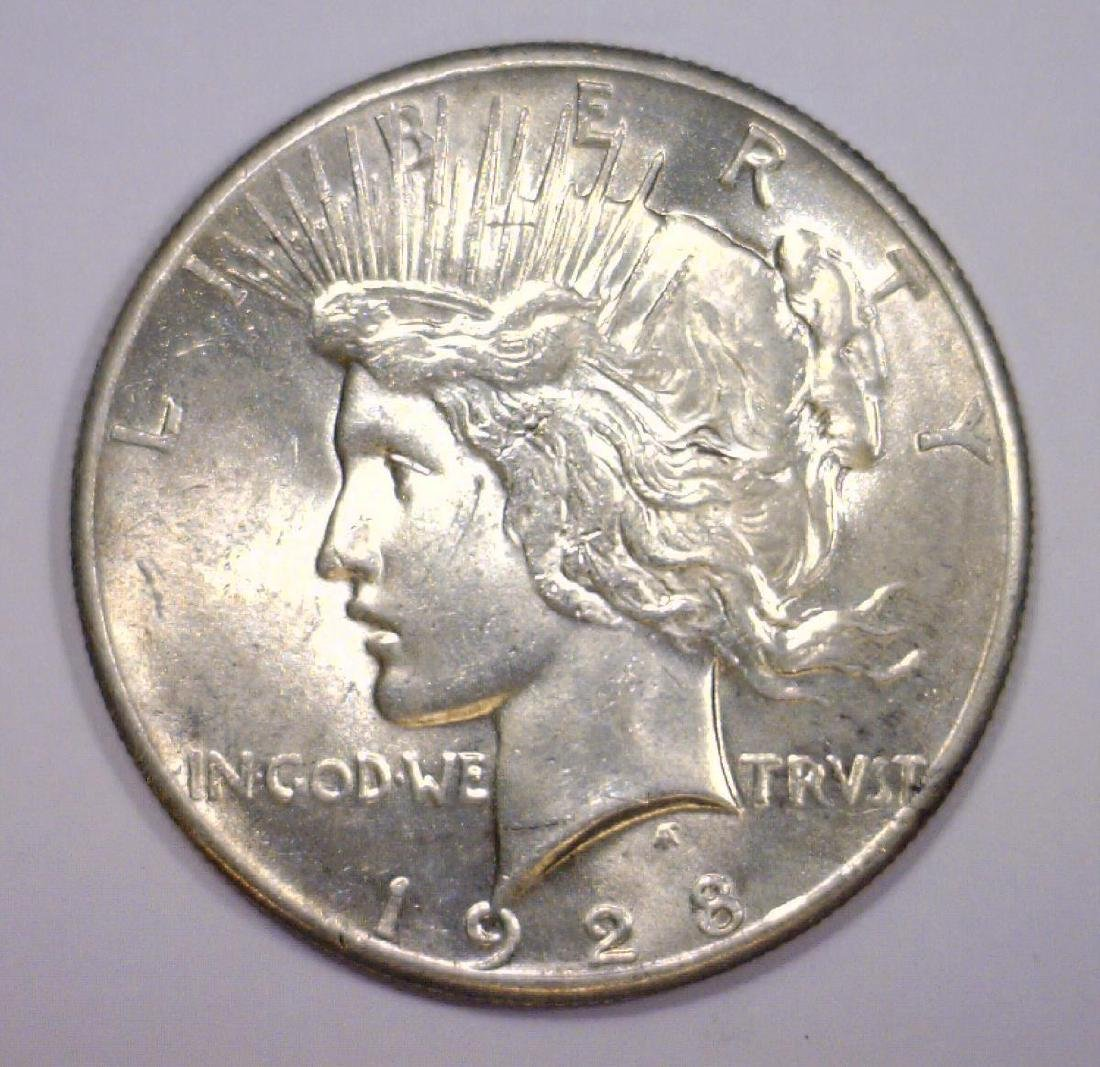 1928 Peace Silver $1 Brilliant Uncirculated BU