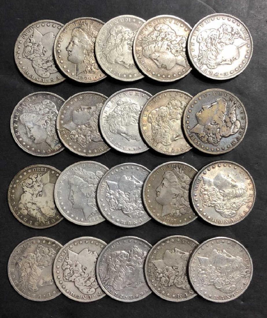 Pre-1921 Morgan Silver Dollar 20 pc Roll VG-AU