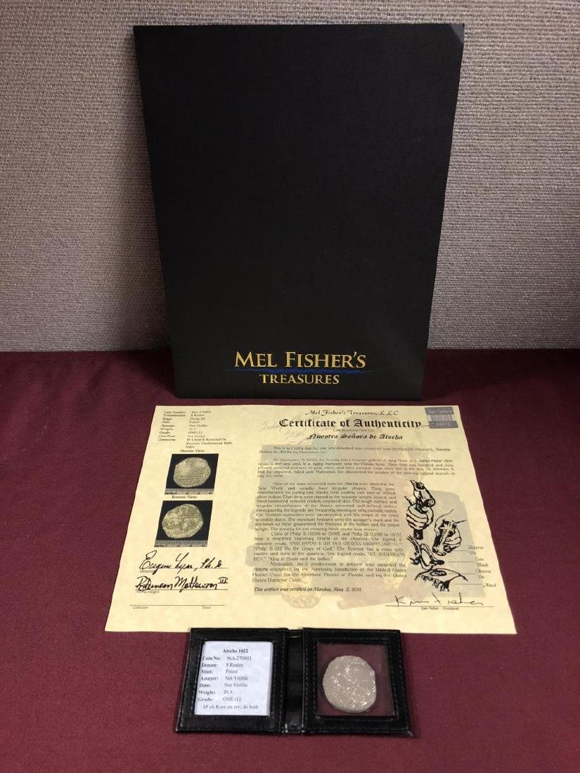 Atocha Shipwreck Coin 8 Reales Mel Fisher with COA