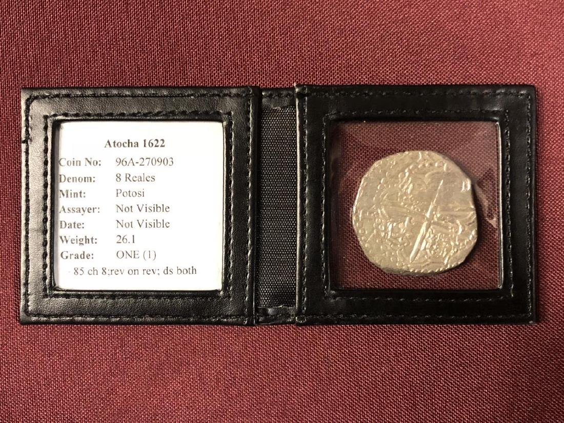 Atocha Shipwreck Coin 8 Reales Mel Fisher with COA - 2