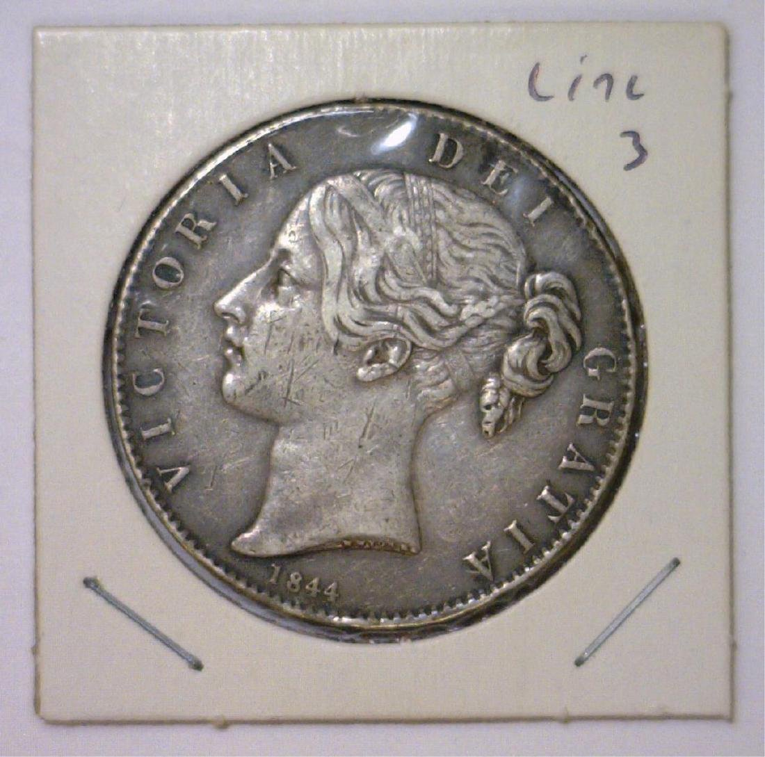 1844 Silver Crown Great Britain KM #741 VF
