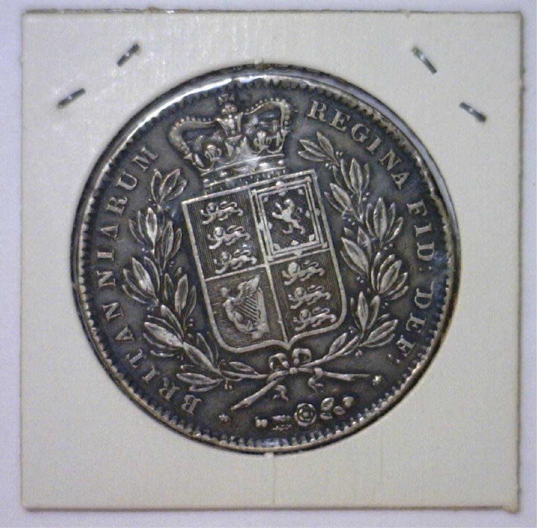 1844 Silver Crown Great Britain KM #741 VF - 2