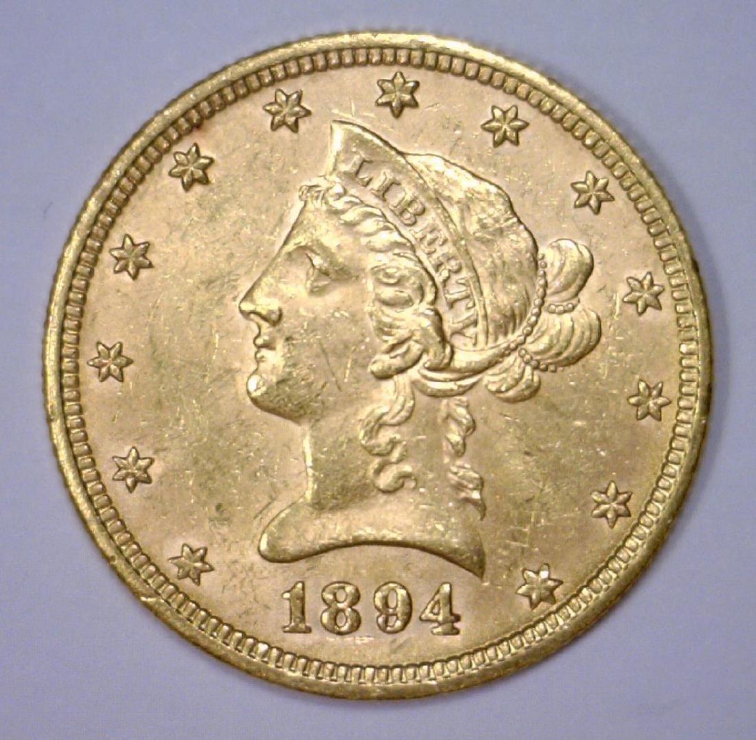 1894 $10 Liberty Gold Eagle Uncirculated BU