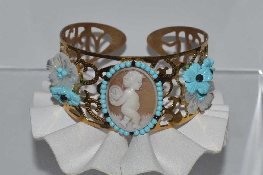 Cameo cuff bracelet by Carada