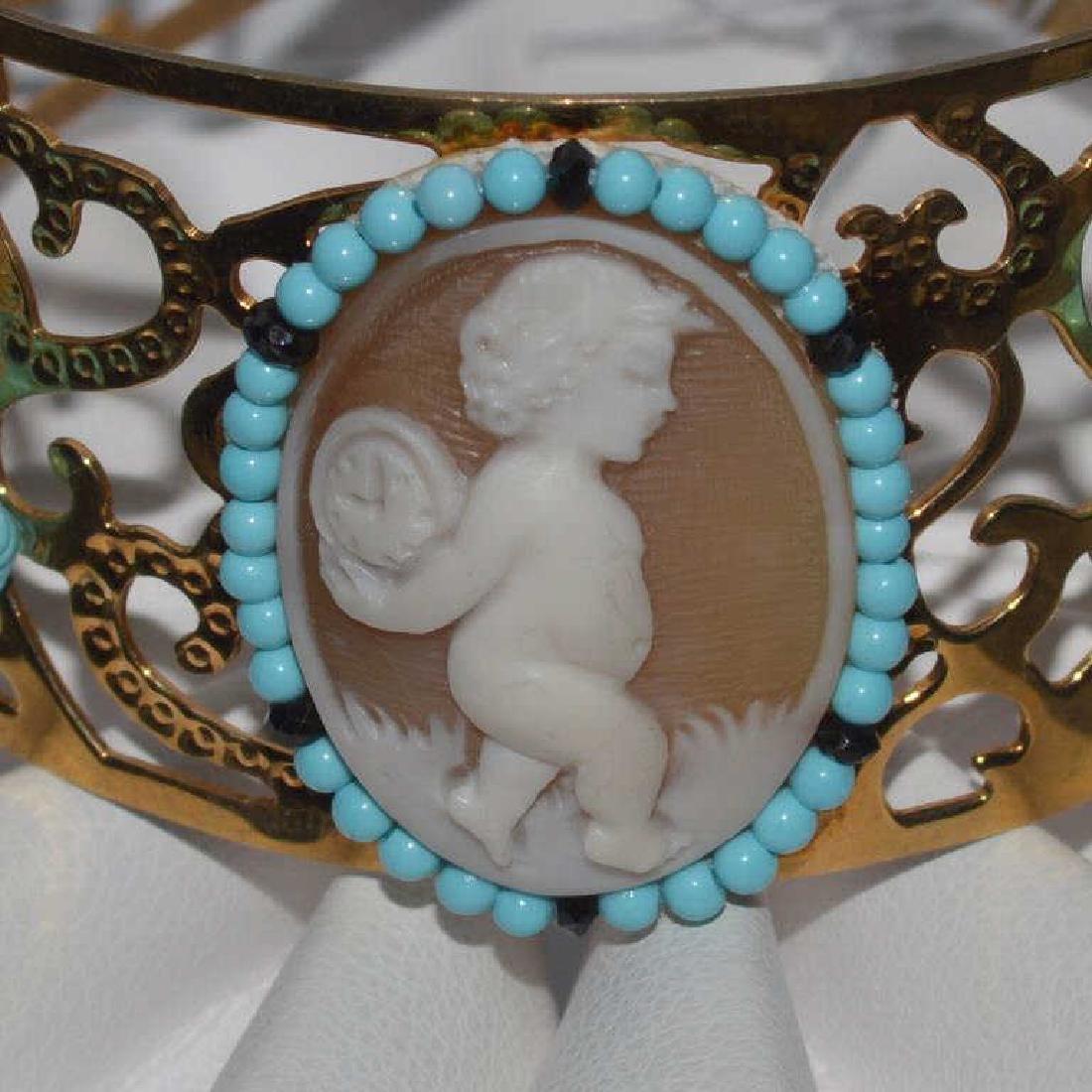 Cameo cuff bracelet by Carada - 2