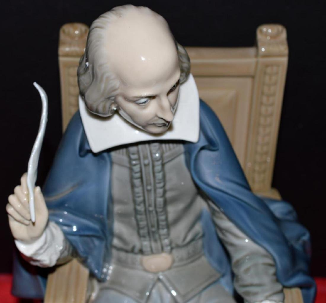LLadro William Shakespeare Figure #1338 with COA - 3