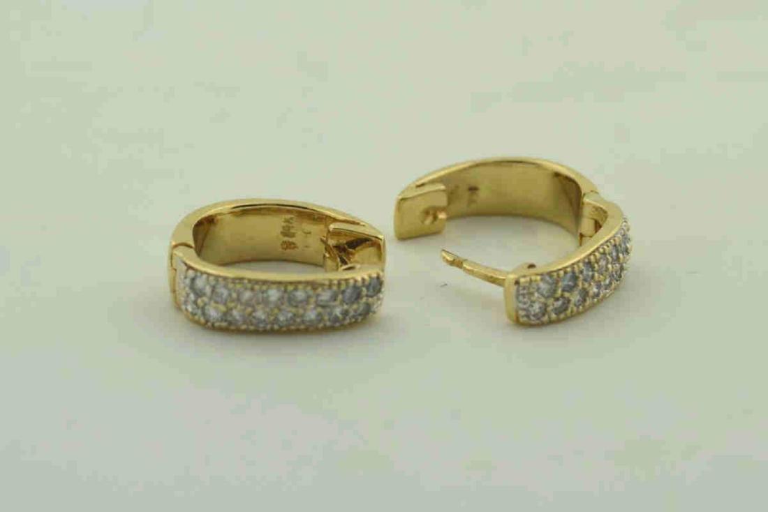 14kt yellow gold huggie hoop earrings - 3