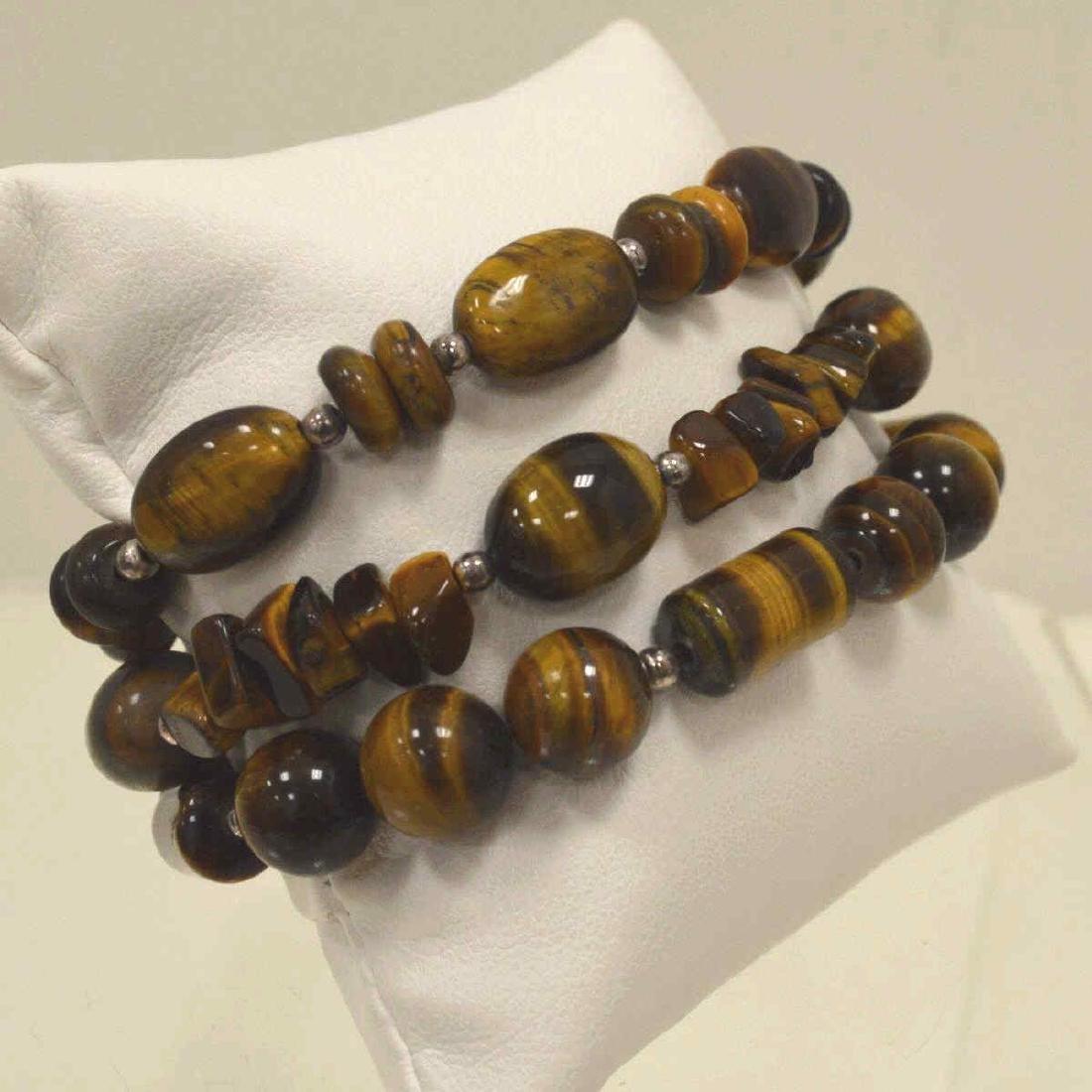 Lot of tiger's eye bead bracelets - 2