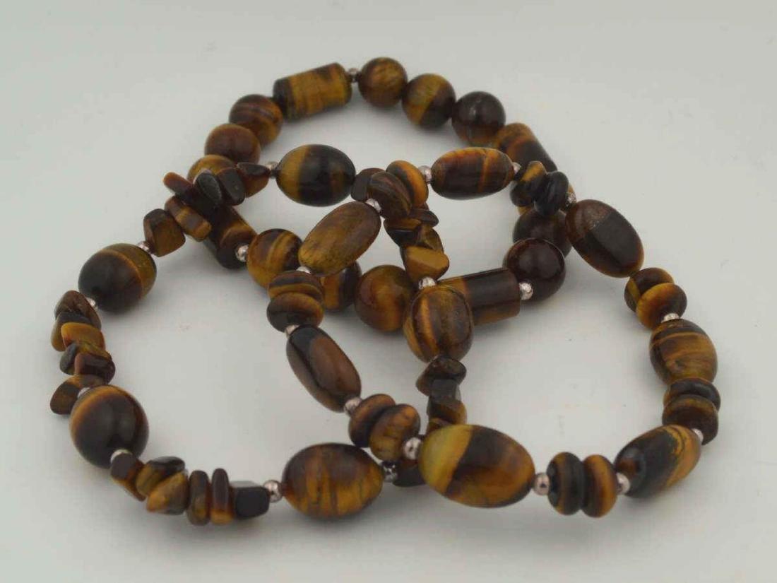 Lot of tiger's eye bead bracelets - 3