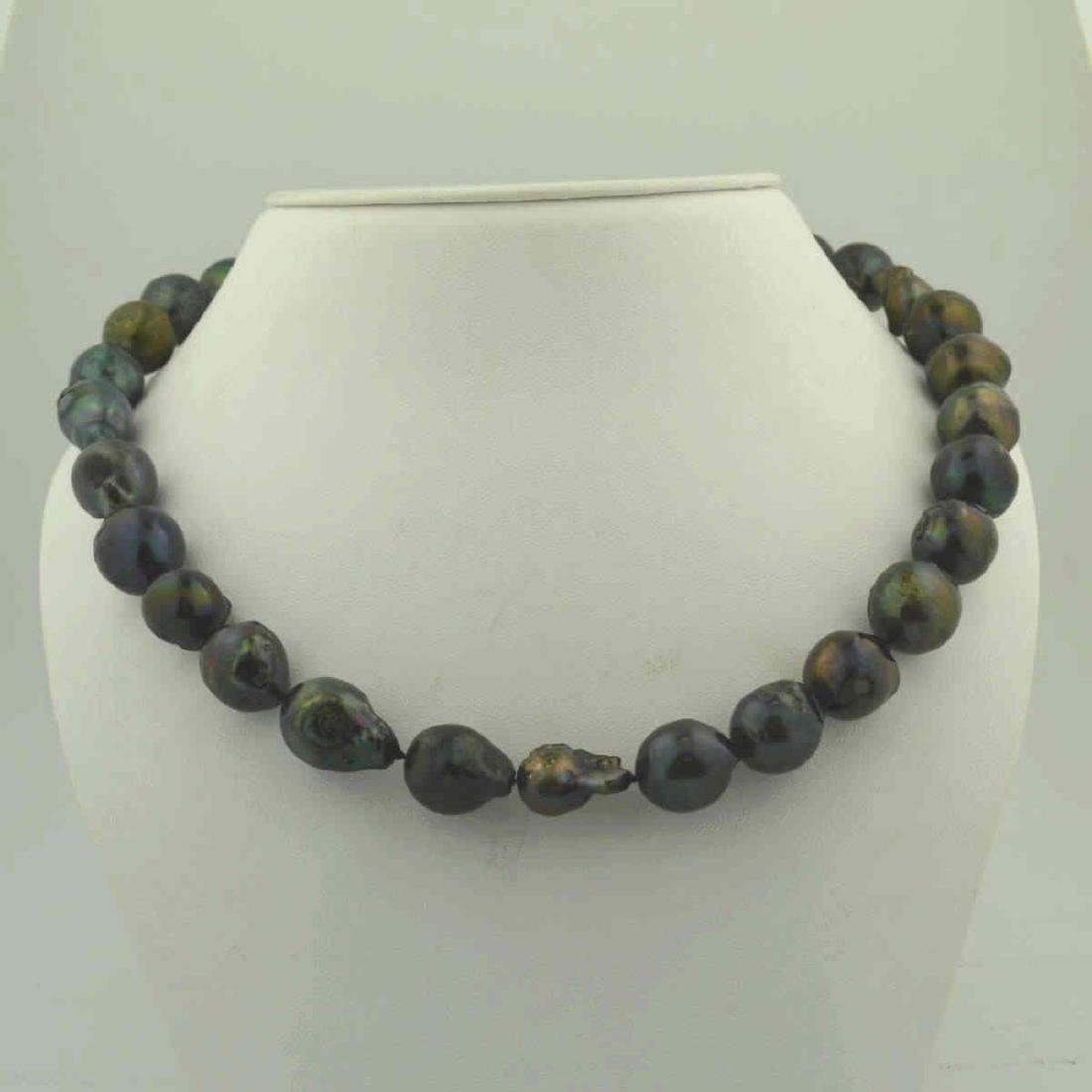 """18"""" baroque South Sea Pearl Necklace - 2"""