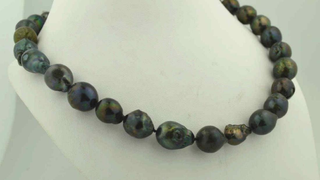 """18"""" baroque South Sea Pearl Necklace - 3"""