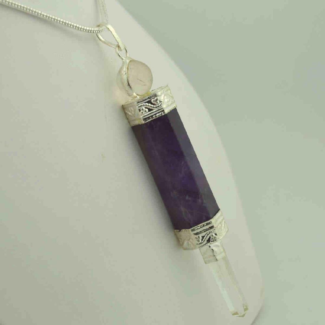Amethyst crystal pendant necklace - 2