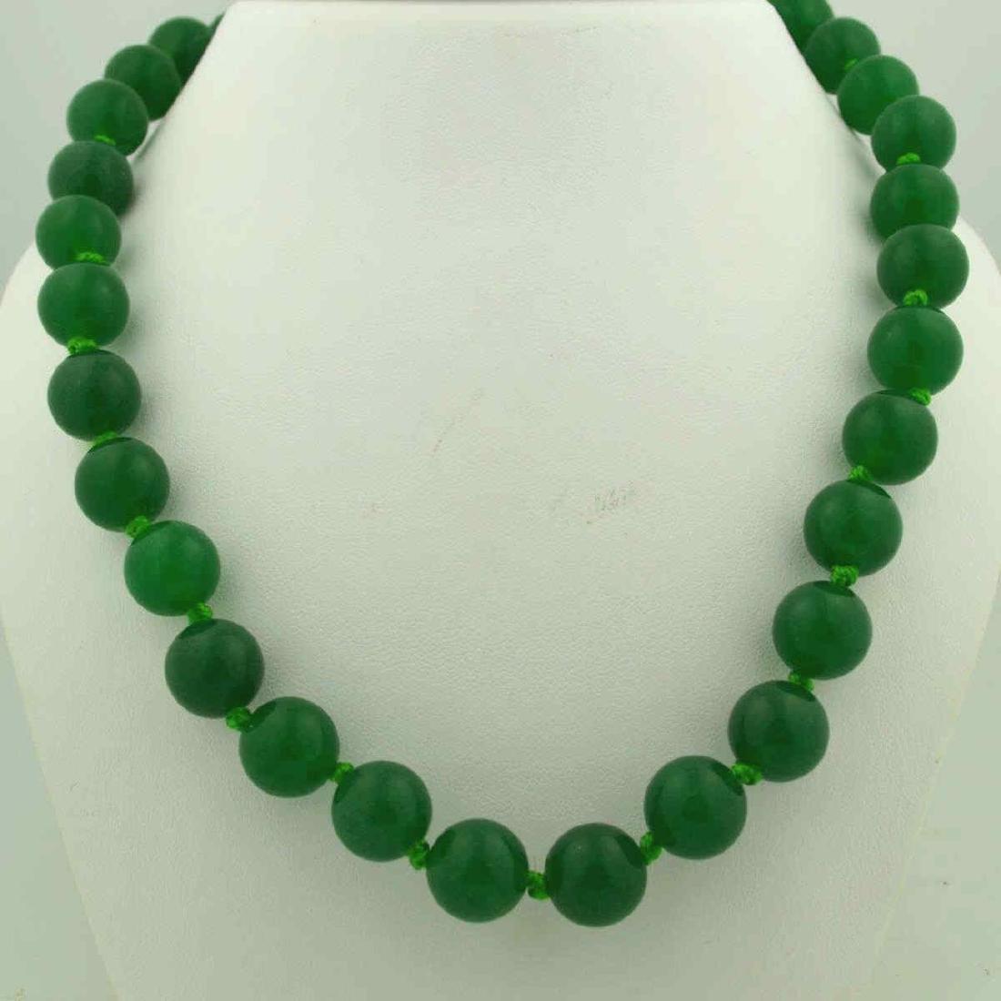 Green Quart Bead Necklace