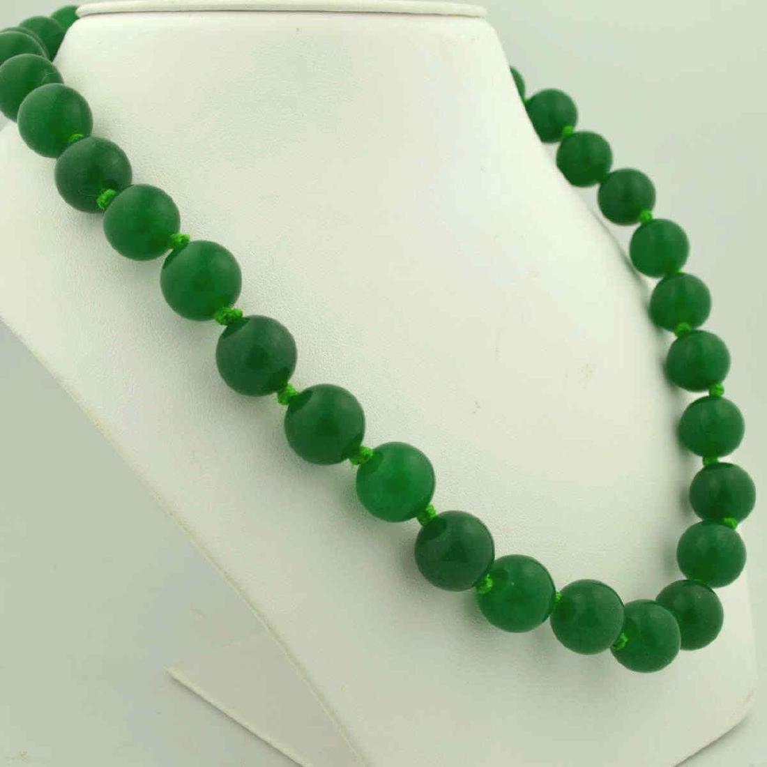 Green Quart Bead Necklace - 2