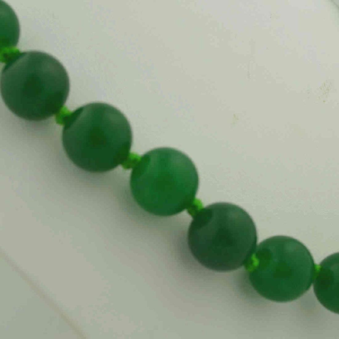Green Quart Bead Necklace - 3
