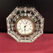 Waterford Octagon Shaped Crystal Quartz Clock