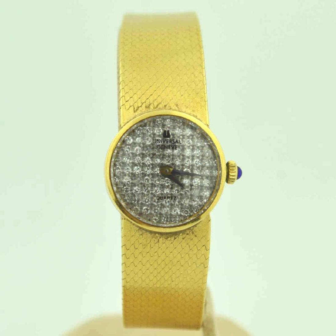 18kt yellow gold diamond Universal Geneve watch