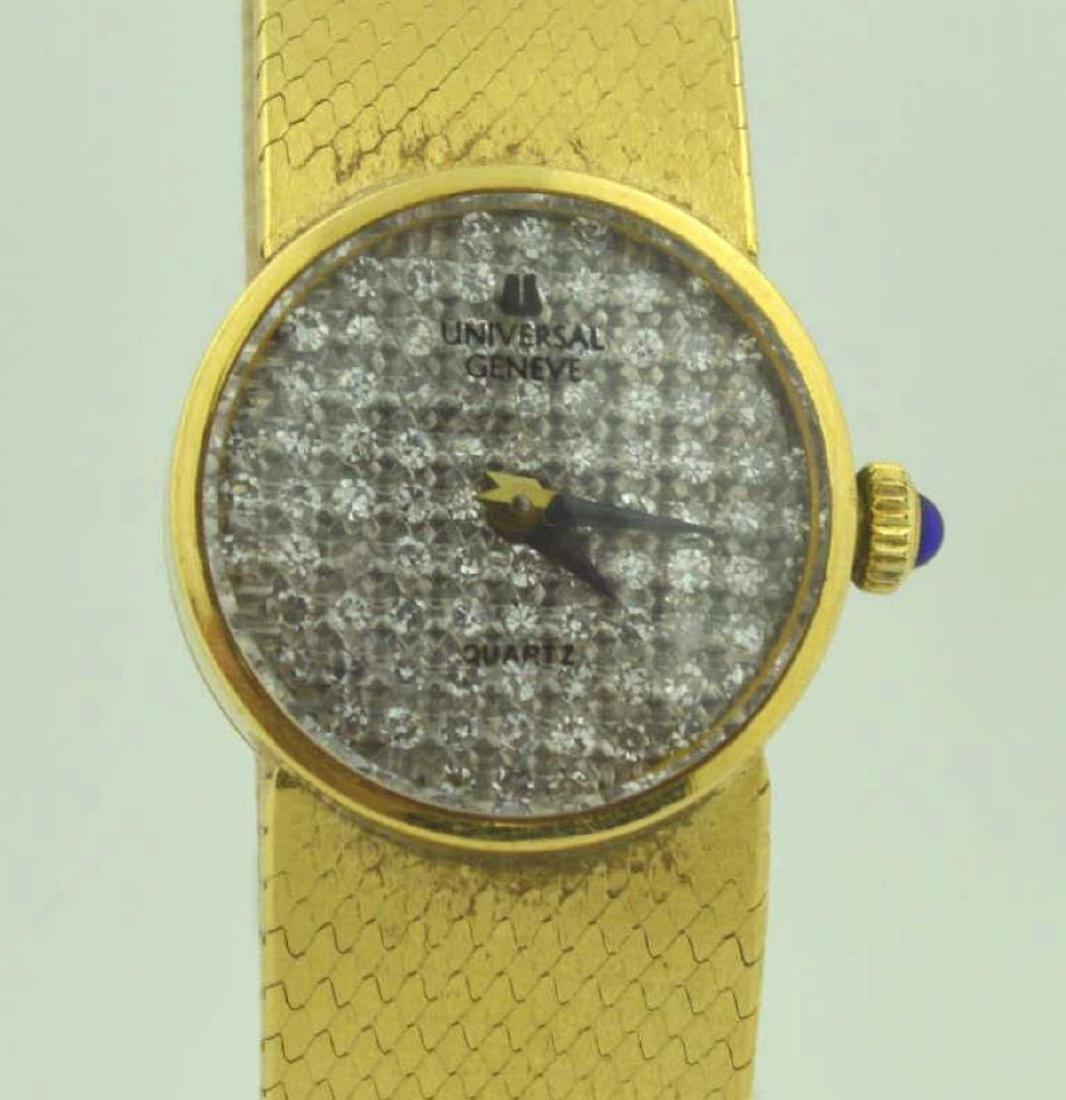 18kt yellow gold diamond Universal Geneve watch - 2