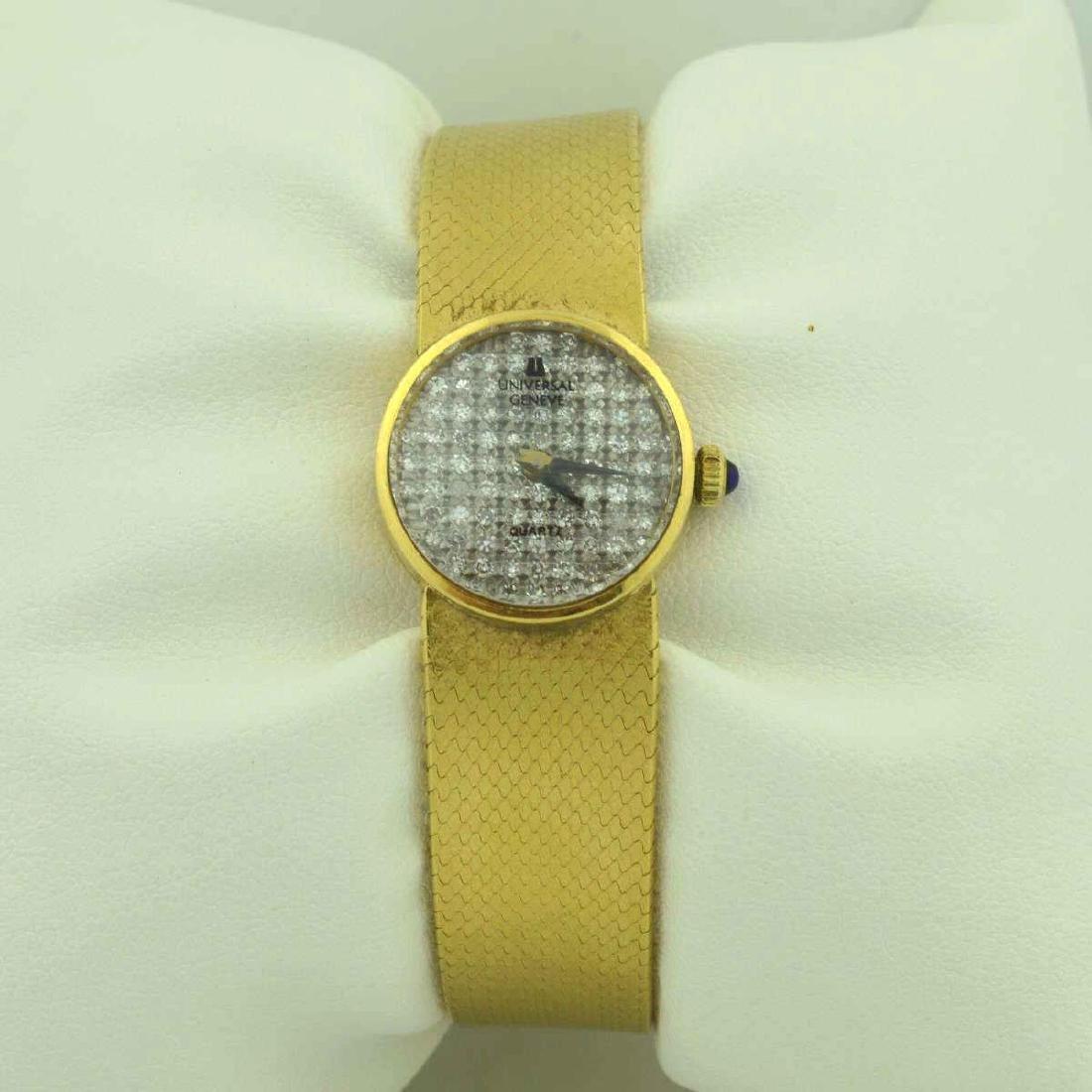 18kt yellow gold diamond Universal Geneve watch - 3