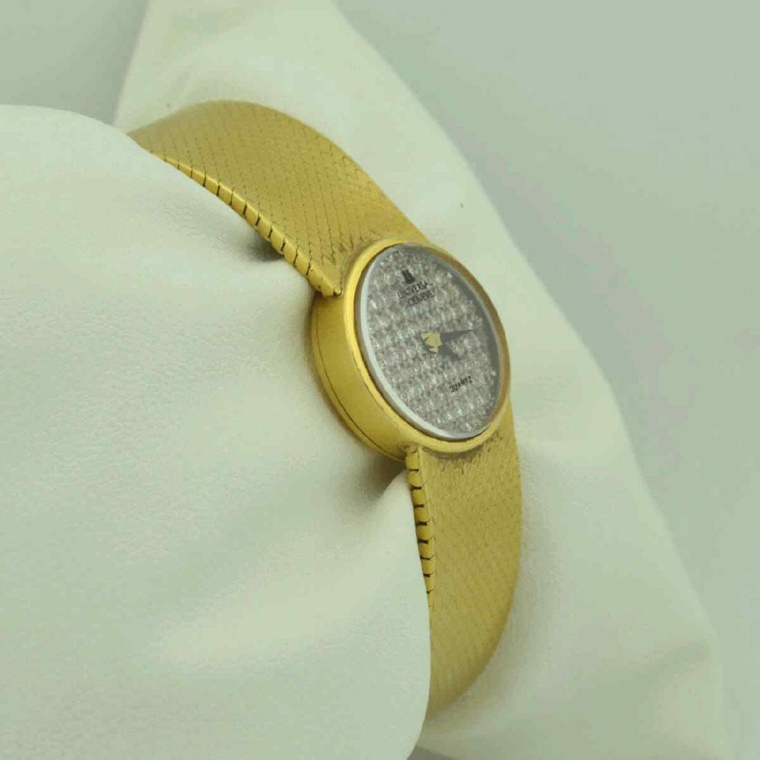 18kt yellow gold diamond Universal Geneve watch - 4
