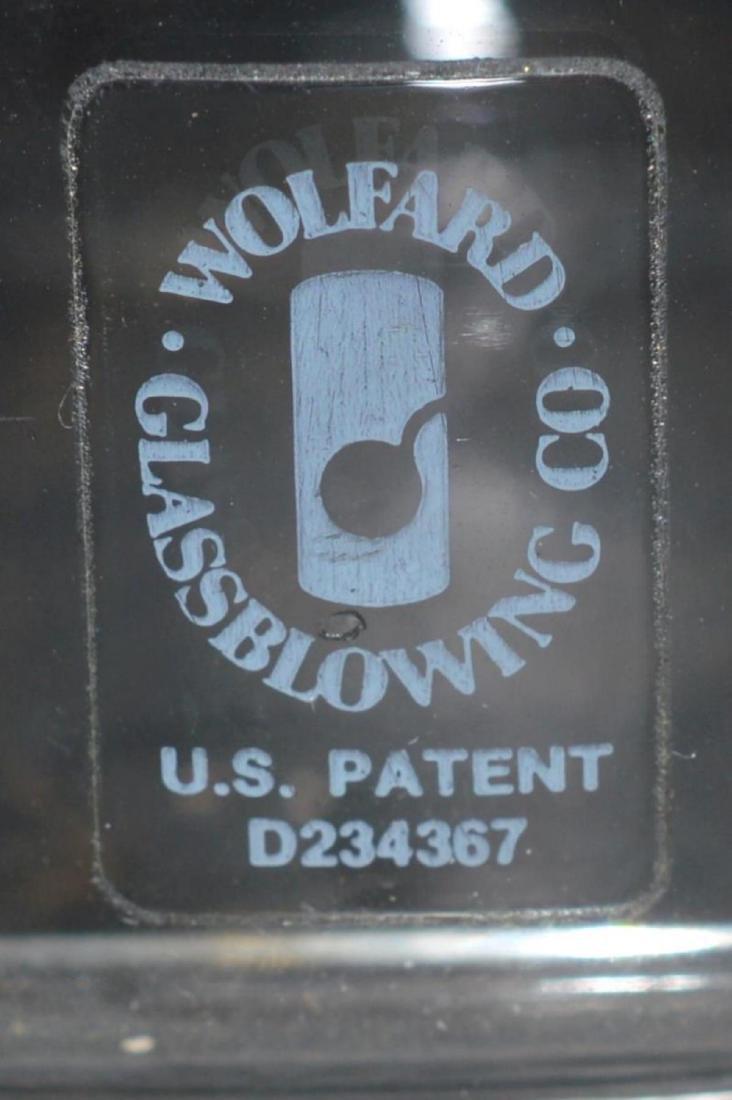 Pair of Wolfard Blown Glass Oil Burning Lanterns - 4