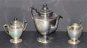 Vintage 3 pc Homan Silver Plated Coffee Set 3693