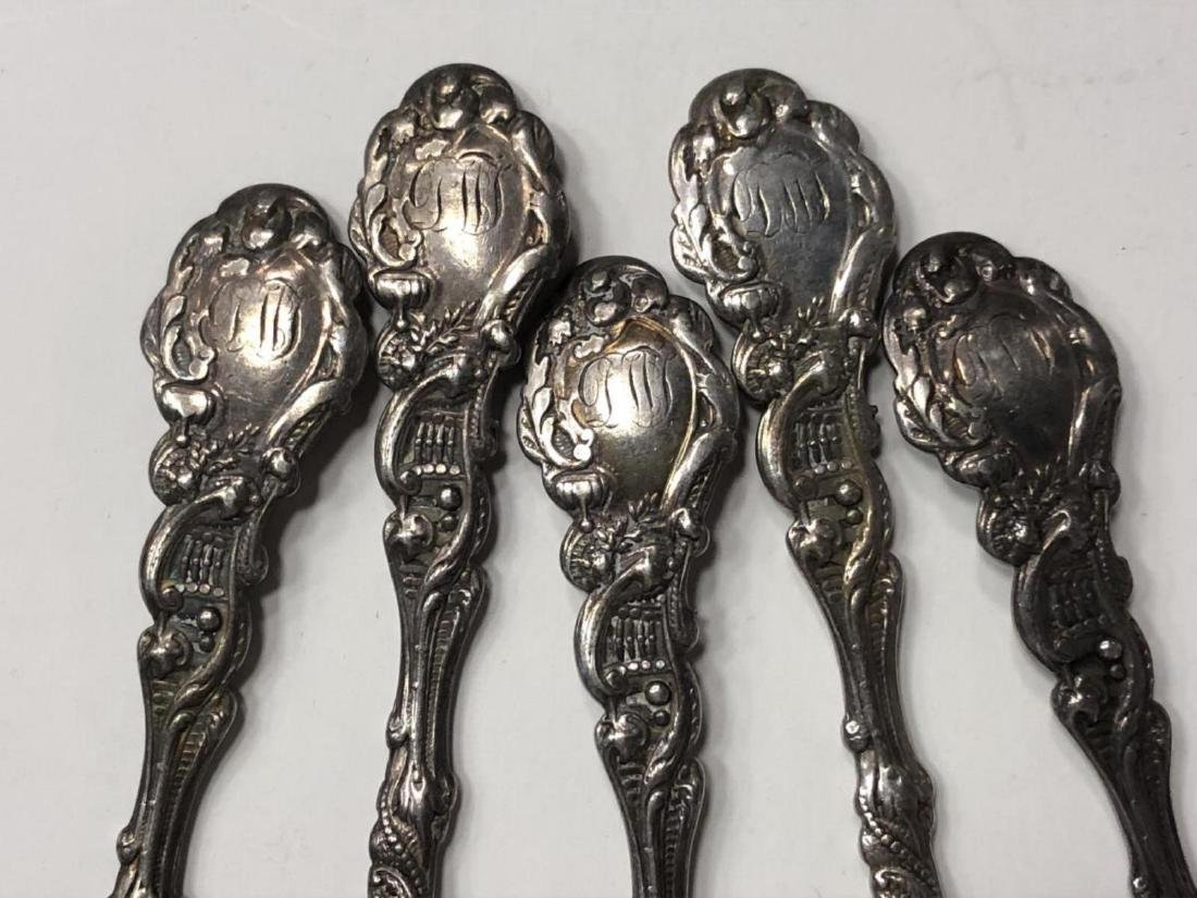 Lot of 5 Beautiful Baby Cherub Sterling Spoons - 4