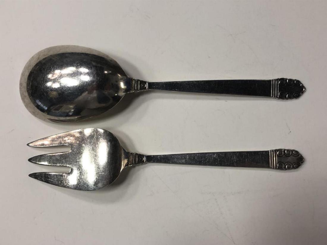 Northern Lights Sterling Salad Serving Fork Spoon - 4