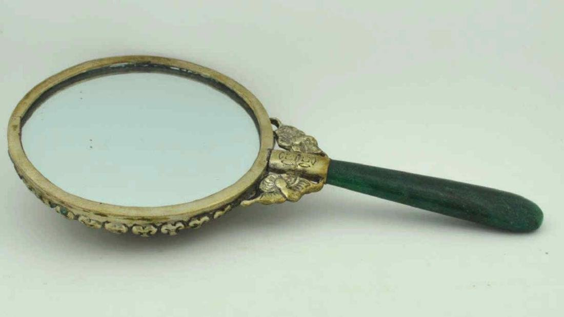 Hand Mirror with Colored Stones - 2