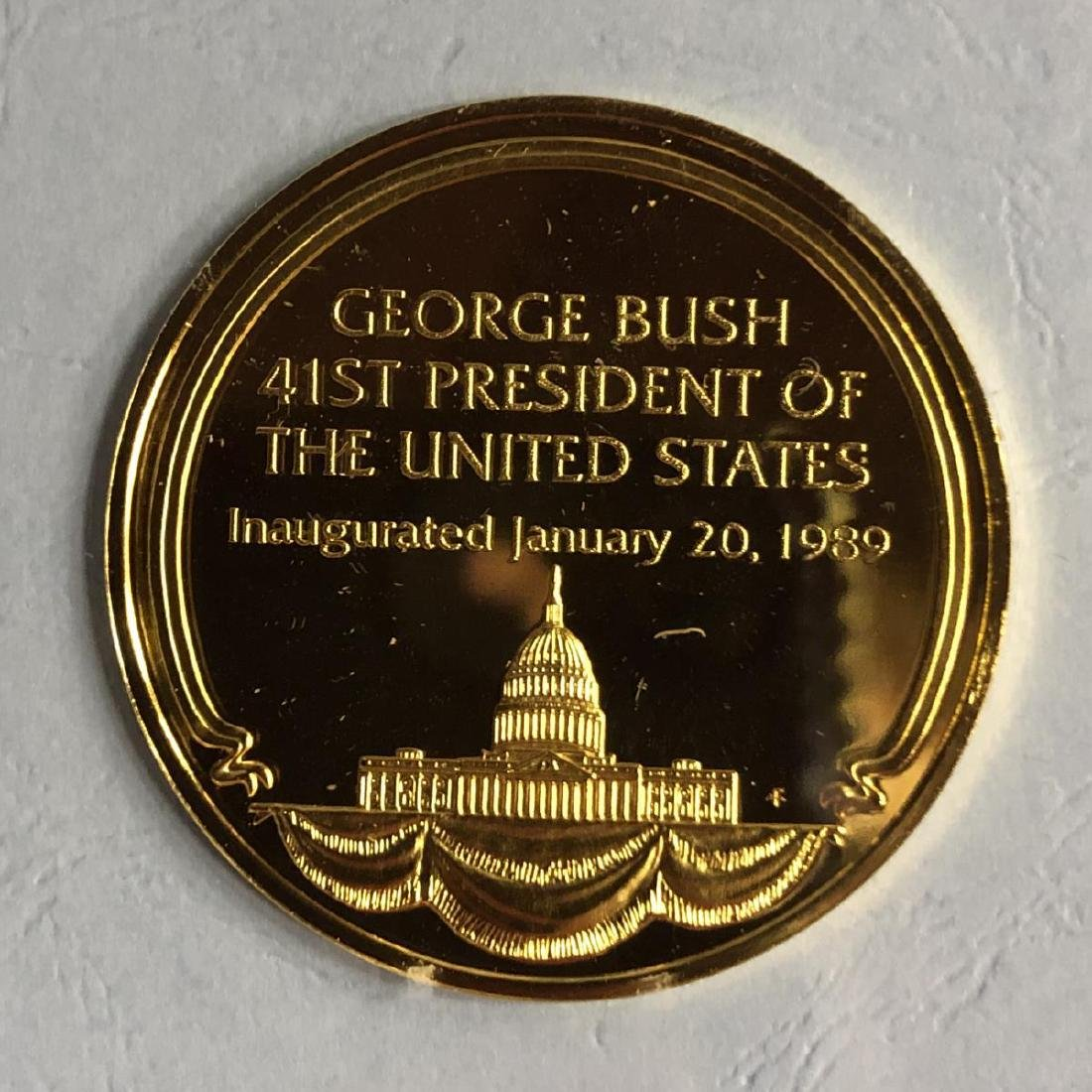 The 1989 Bush Inauguration Eyewitness Silver Medal - 3