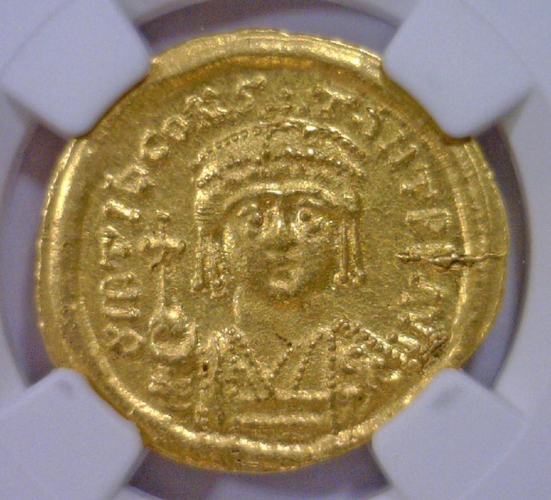 Byzantine Tiberius II Gold AV Solidus NGC MS