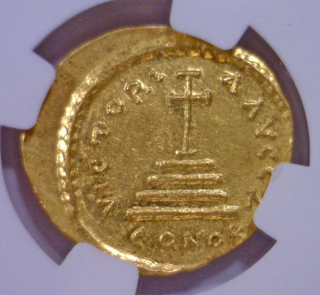 Byzantine Tiberius II Gold AV Solidus NGC MS - 3