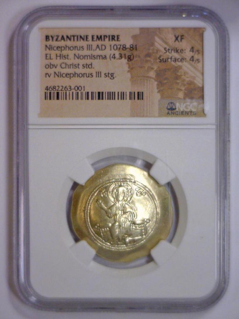 Byzantine Nicephorus Gold Hist Nomisma NGC XF - 2