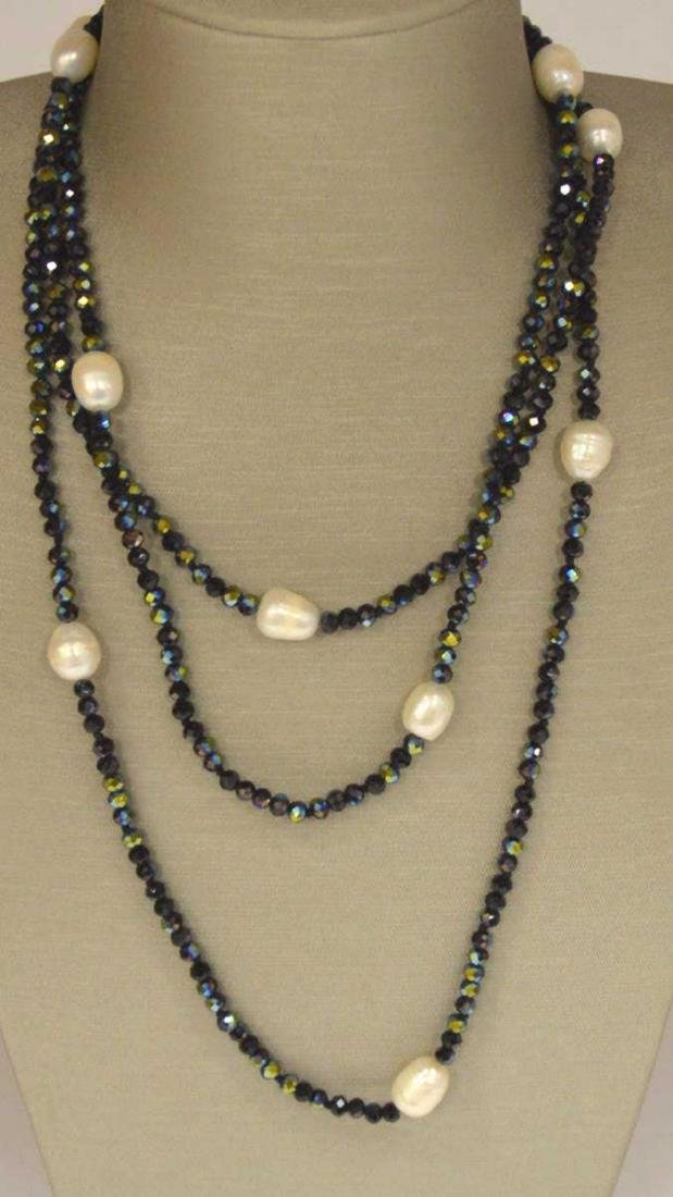 Freshwater pearl and stone bead necklace - 2