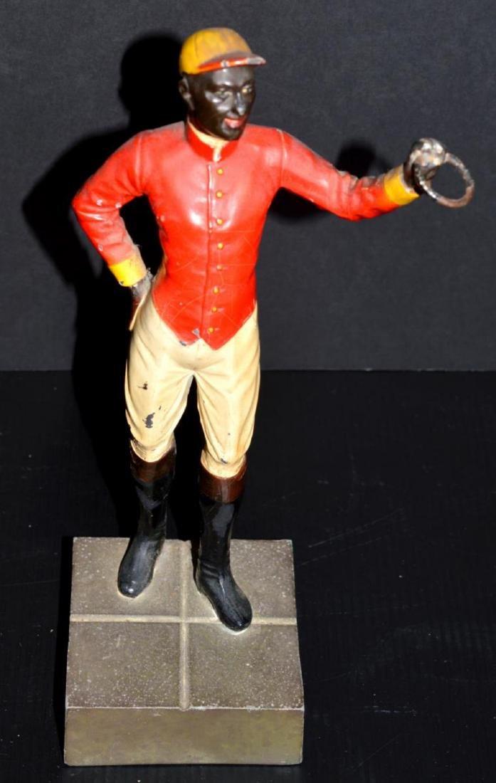 Cast Iron Lawn Jockey Vintage Type Statuette