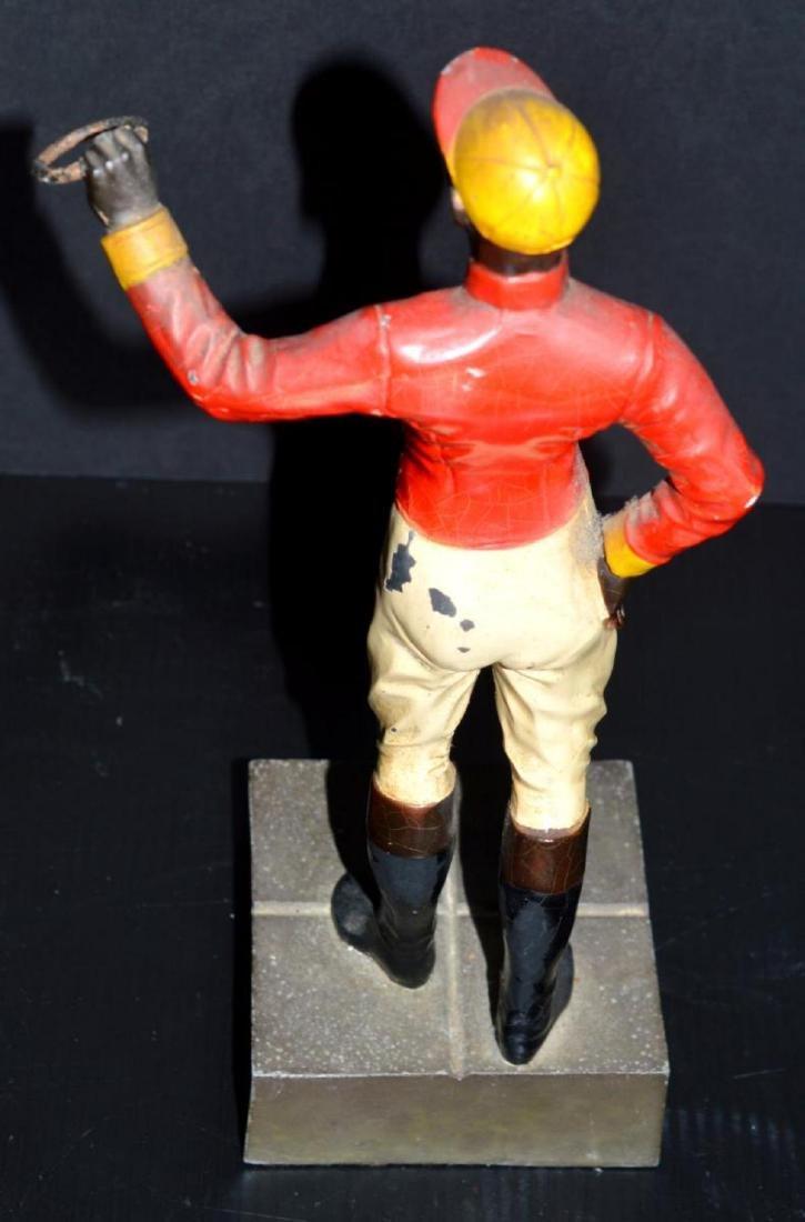Cast Iron Lawn Jockey Vintage Type Statuette - 4