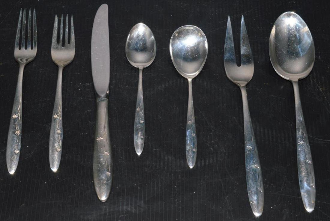 Gorham Celeste Pattern Sterling Flatware Set - 2
