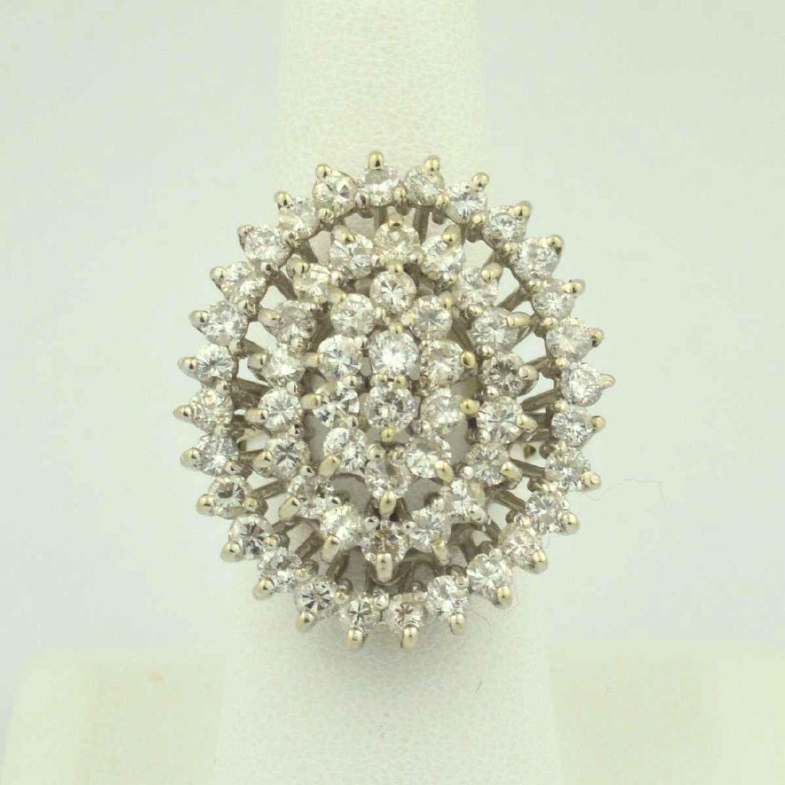 14kt white gold diamond cocktail ring