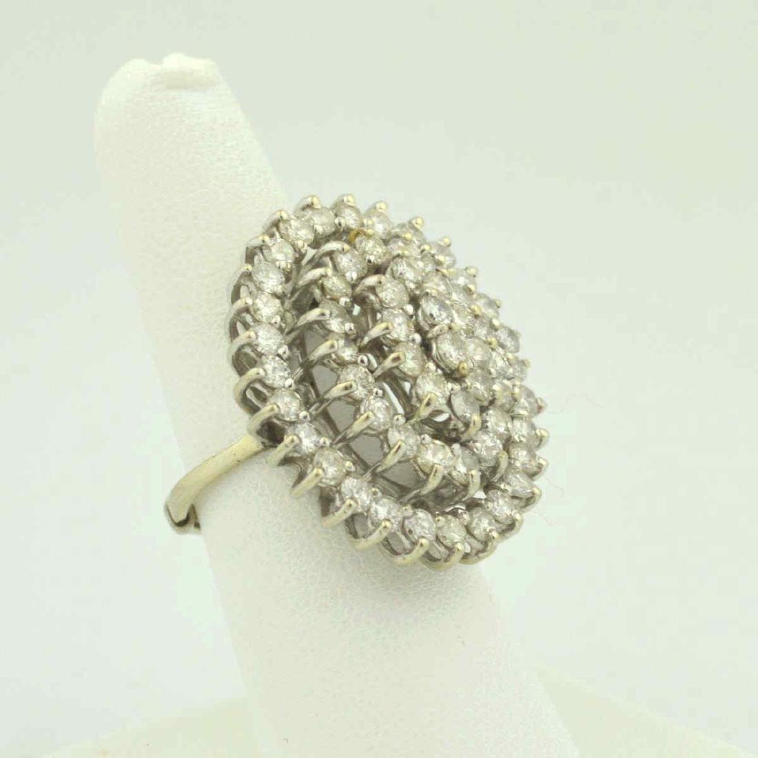 14kt white gold diamond cocktail ring - 2