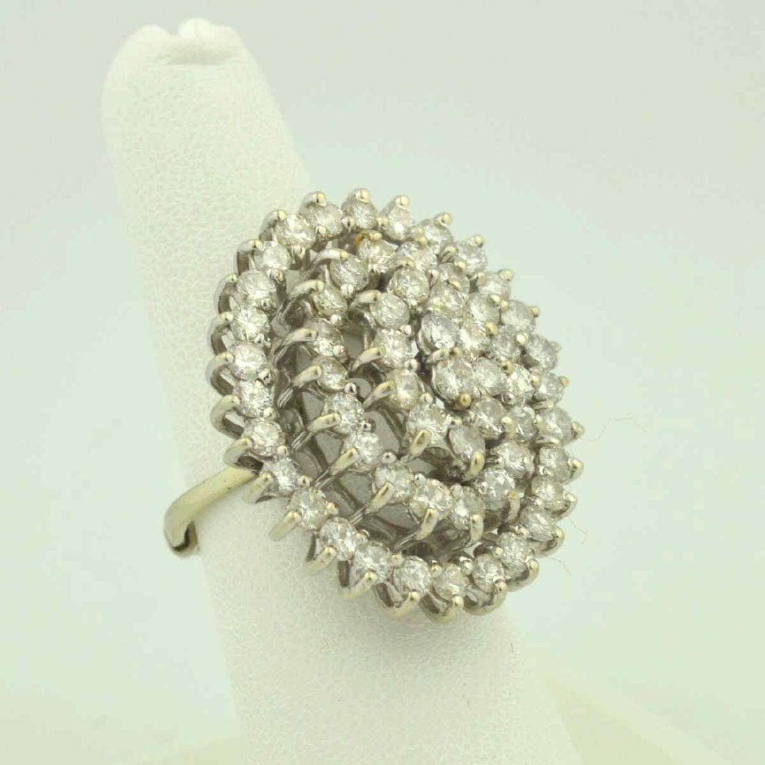 14kt white gold diamond cocktail ring - 3