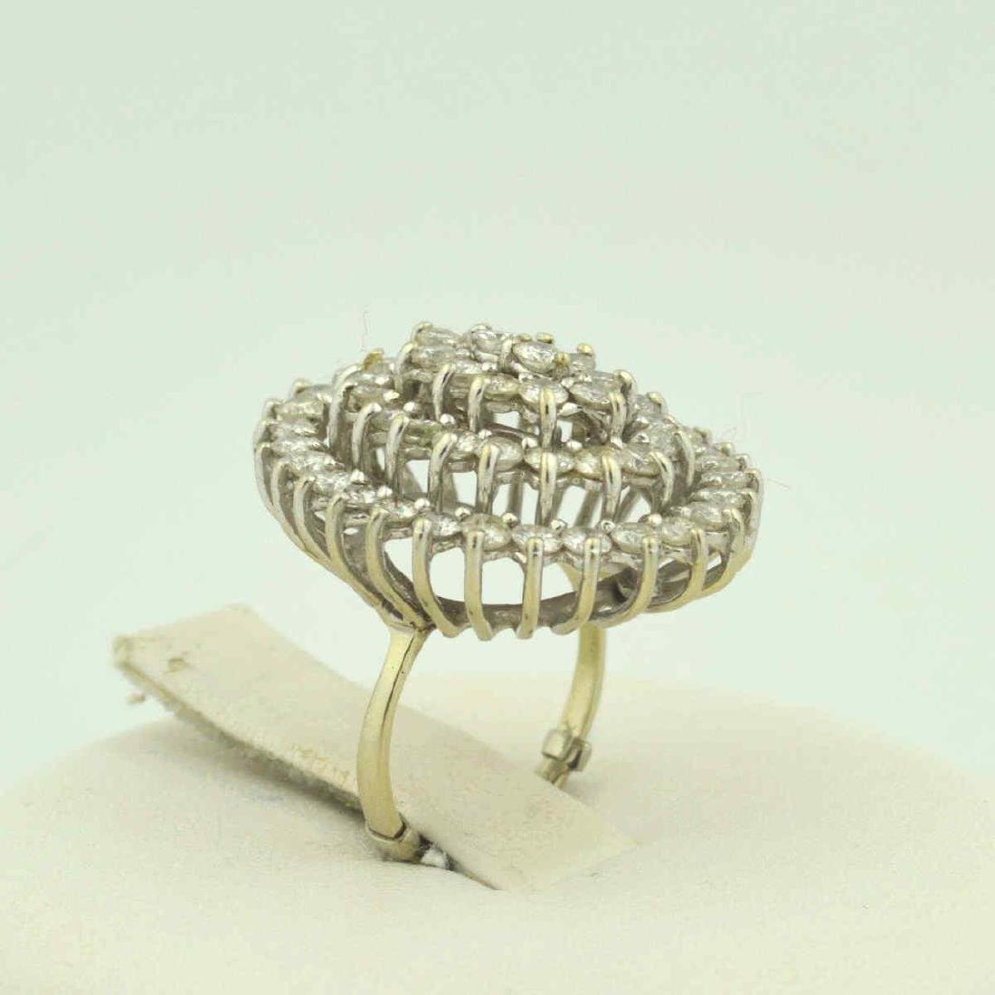 14kt white gold diamond cocktail ring - 5